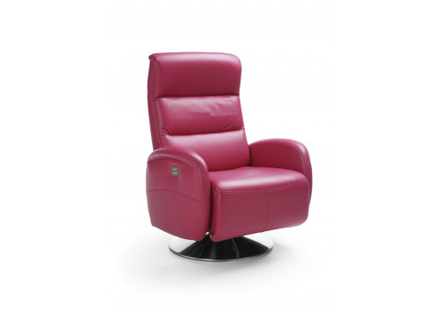 Gala Arosa fotel rózsaszín bőrrel