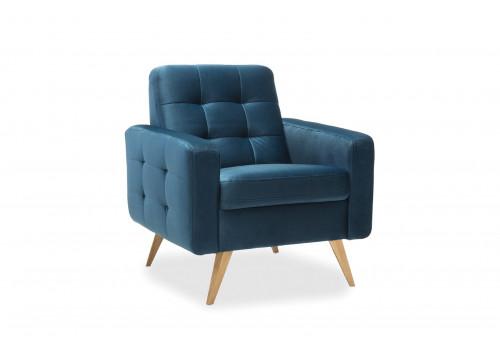 Gala Nappa fotel kék Aquaclean szövettel