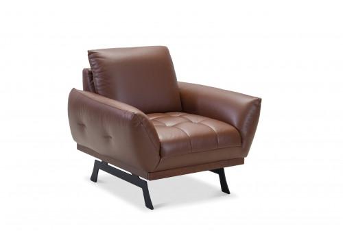 Gala Nicea fotel barna bőrrel