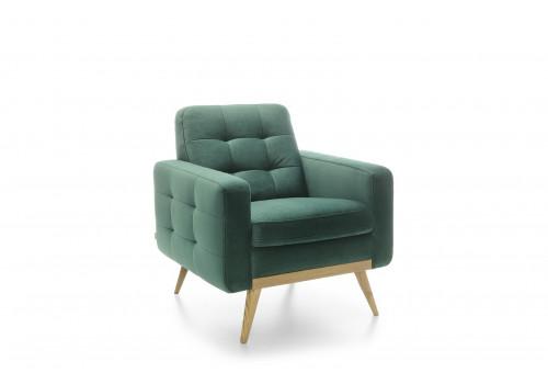 Gala Nova fotel zöld Aquaclean szövettel