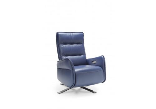Gala Res fotel kék bőrrel