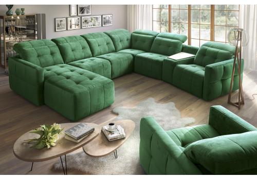 Gala Cantata moduláris kanapé zöld Aquaclean szövettel
