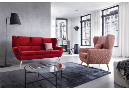 Gala Forli kanapé piros Aquaclean szövettel