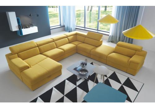 Gala Luciano moduláris kanapé sárga Aquaclean szövettel