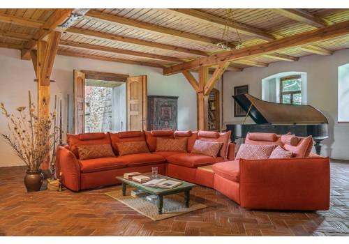Gala Merida moduláris kanapé narancs Aquaclean szövettel