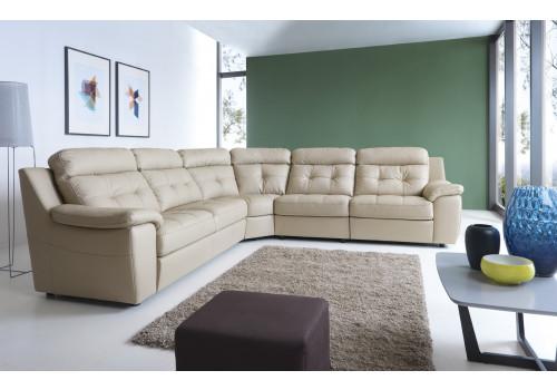 Gala Toledo moduláris kanapé krém bőrrel