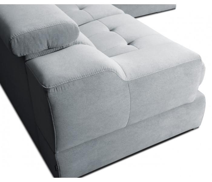 Gala Belluno kék moduláris kanapé Aquaclean szövettel