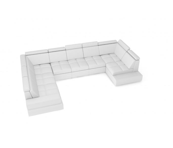 Gala Capri moduláris kanapé fehér bőrrel