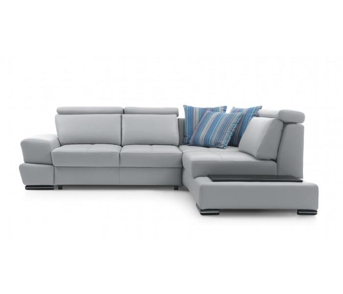 Gala Capri moduláris kanapé szürke bőrrel