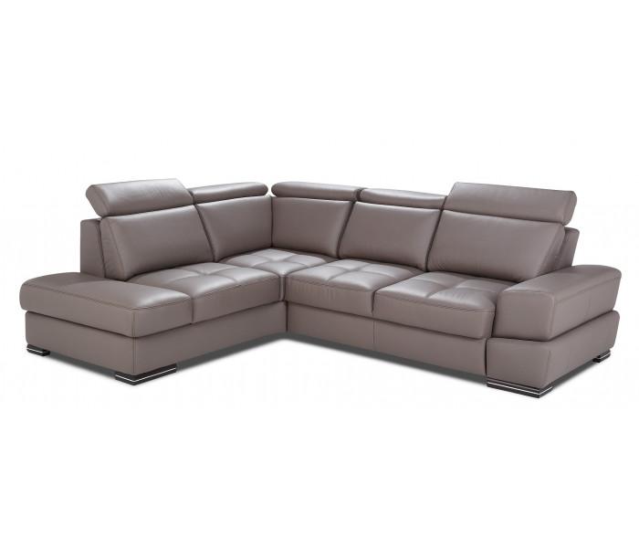 Gala Capri moduláris kanapé barna bőrrel