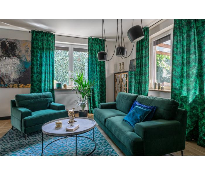 Gala Monday kanapé zöld Aquaclean szövettel