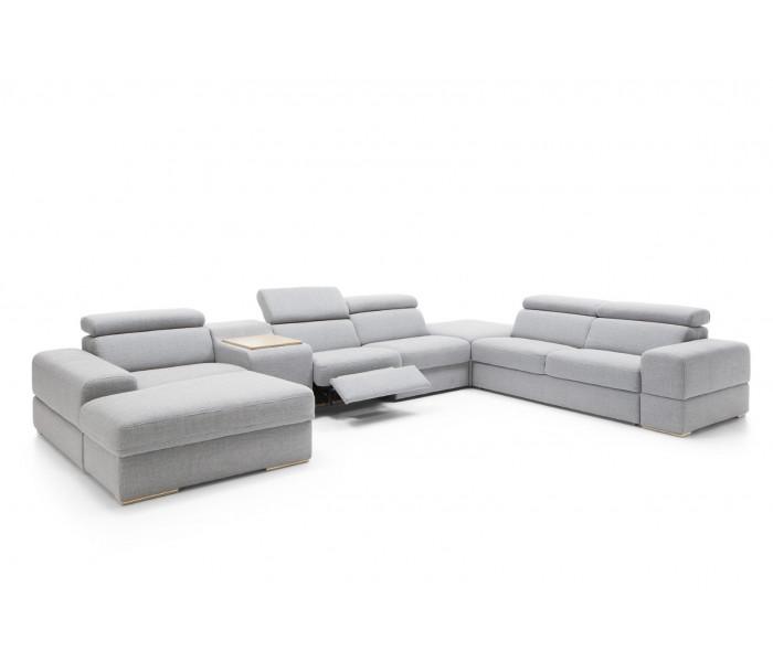 Gala Plaza moduláris kanapé  szürke Aquaclean szövettel